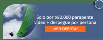 Solo por $80.000 parapente + vídeo + despegue por persona - Nacidos para Volar