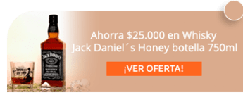 Ahorra $25.000 en Whisky Jack Daniel´s Honey botella 750ml - Vittoria One Shop