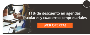 11% de descuento en agendas escolares y cuadernos empresariales - AB Publicidad y Acabados