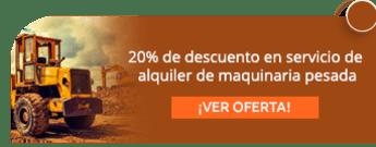 20% de descuento en servicio de alquiler de maquinaria pesada - Pavimentaciones Acabados Asfálticos S.A.S