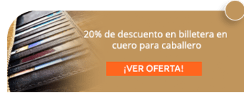 20% de descuento en billetera en cuero para caballero - Accesorios en Cuero Roco