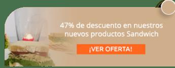 47% de descuento en nuestros nuevos productos Sandwich - Royal Cake Bogotá