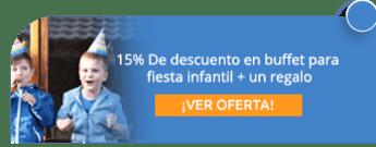 15% De descuento en buffet para fiesta infantil + un regalo