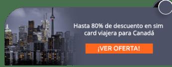 Hasta 80% de descuento en sim card viajera para Canadá - Mi Simcard