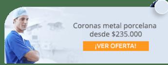 Coronas metal porcelana desde $235.000 - Clínica Odontología Marzabal