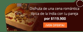 Disfruta de una cena romántica típica de la India con tu pareja por $119.900 - Indian Palace