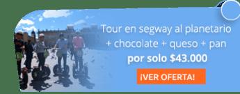 Tour en segway al planetario + chocolate santafereño con queso solo por $43.000 - Bogotá Segway Tour