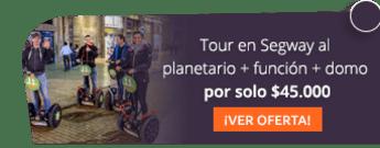 Tour en Segway al planetario + función + domo por solo $45.000 - Bogotá Segway Tour