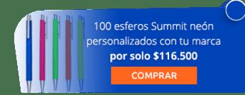 100 esferos Summit neón personalizados con tu marca por solo $116.500 - Marcas Express