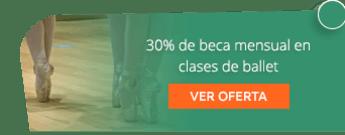 30% de beca mensual en clases de ballet