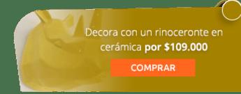 Decora con un rinoceronte en cerámica por $109.000 - Casa de Palo Cerámica y Decoración