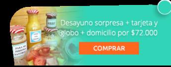 Desayuno sorpresa + tarjeta y globo + domicilio por $72.000 - Madame Cupcakes