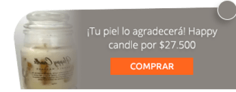 ¡Tu piel lo agradecerá! Happy candle por $27.500 - Sufí Herbal Cosmetics