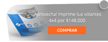 ¡Aprovecha! Imprime tus volantes 4x4 por $148.000 - Area 5 Publicidad