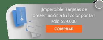 ¡Imperdible! Tarjetas de presentación a full color por tan solo $59.000 - Area 5 Publicidad