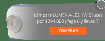 Lámpara LUMEK A-LE2 1W 2 luces por $294.000 ¡Paga 6 y llevas 7! - Ahorra luz Suministro E Instalación De Bombillos Leds