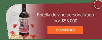 Botella de vino personalizado por $55.000 - Creaciones Liz