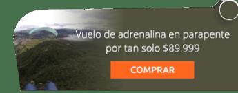 Vuelo de adrenalina en parapente por tan solo $89.999 - Aventura Extrema La Calera