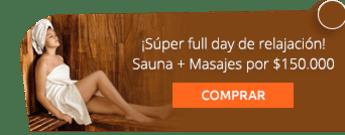 ¡Súper full day de relajación! Sauna + Masajes por $150.000 - Fisioestetica Spa