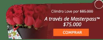 Cilindro Love con 20 hermosas rosas por $85.000 + domicilio gratis. - Flores y Regalos Bogotá