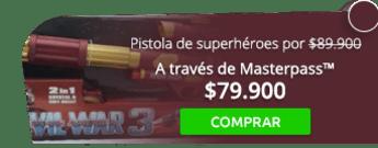 ¡Llegó navidad! Pistola de superhéroes por $89.900. - Tienda MAFF Colombia