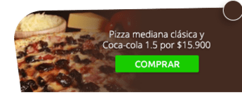 Pizza mediana clásica y Coca-cola 1.5 por $15.900 - Red Box Pizza Colina Campestre