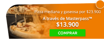 Pizza mediana y gaseosa a domicilio por $23.900 - Pizza Inn