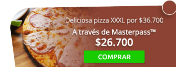 Deliciosa pizza XXXL por solo $36.700 - Bogotá Food Company