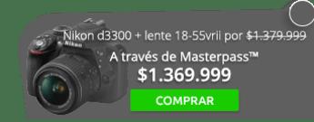Cámara Nikon d3300 + lente 18-55vrii por $1.379.999 - JFW Tecnologia Digital