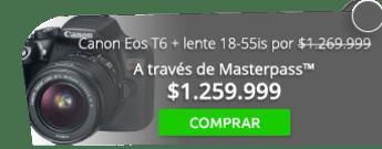 Cámara Canon Eos T6 con lente 18-55is por $1.269.999 - JFW Tecnologia Digital