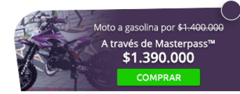 Moto a gasolina para niños por solo $1.400.000 - The World Stunt