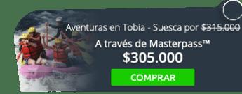 Vive la afición de tus aventuras en Tobia - Suesca por $315.000 - Santaventura