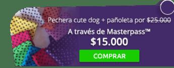 Pechera cute dog más pañoleta para mascota por $25.000 - Cat & Dogstore