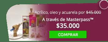 Combo de acrílico, oleo y acuarela por $45.000 - Empresuministros