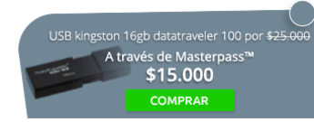 Memoria USB kingston 16gb datatraveler 100 por $25.000 - Einstein Tecnología