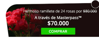 Hermoso ramillete de 24 rosas por $80.000 a domicilio - Flores de Colombia Floristería