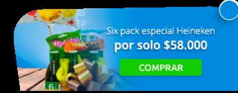 Desayunos del Cielo - Six pack especial Heineken por solo $58.000