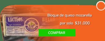 Distribuidora de Lácteos La Esperanza - Bloque de queso mozarella por solo $31.000