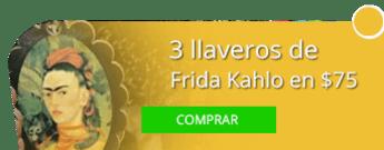 3 llaveros de Frida Kahlo en $75 - rtesanías Lula
