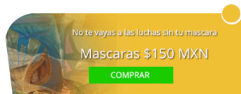¡No te vayas a las luchas sin tu mascara! Mascaras $150 MXN - Disfraces Martha e hijas