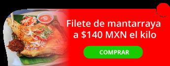 Delicioso filete de mantarraya a sólo $140.00 MXN el kilo - Pescadería El Barco I