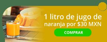1 litro de jugo de naranja por $30 MXN - Jugos y Licuados Don Mauro