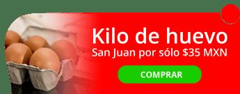 ¡No pagues de más! Kilo de huevo San Juan por sólo $35 MXN - Abarrotes Lupita