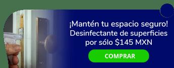¡Mantén tu espacio seguro! Desinfectante de superficies por sólo $145 MXN - Shelo