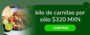 kilo de carnitas por sólo $320 MXN - Carnitas la fe taraskito prados