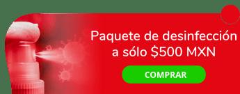Paquete de desinfección a sólo $500 MXN - MuV Sanitation