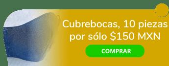 ¡Cuida tu salud! Cubrebocas 10 piezas por sólo $150 MXN - Costuras Eva