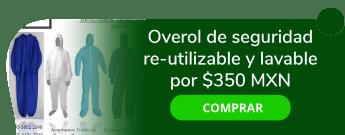 Overol de seguridad re-utilizable y lavable por $350 MXN - Deposito Dental K.r.o.s.