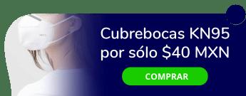 Cubrebocas KN95 por sólo $40 MXN - Vive Protegido O Vive Sano