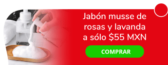 Jabón musse de rosas y lavanda a sólo $55 MXN - Yuum Kaax